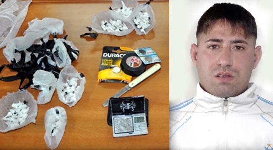 Adrano, arresto per spaccio di cocaina