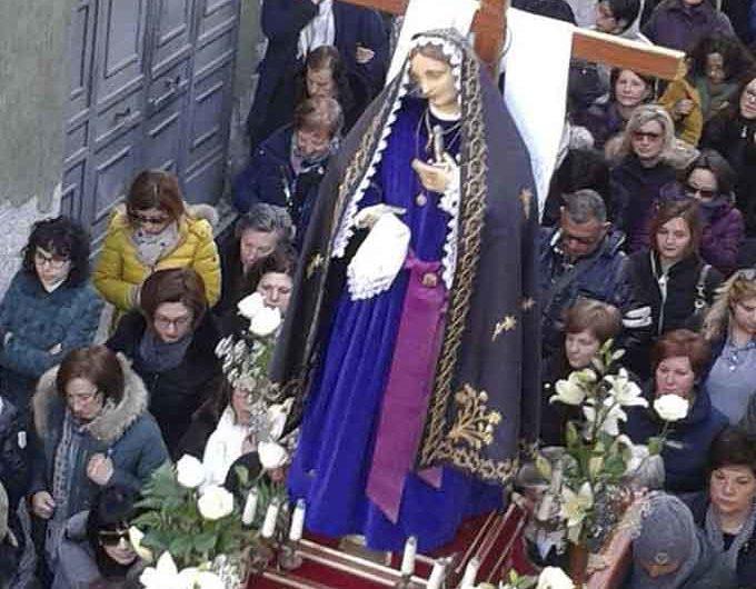 Biancavilla, nel vivo i riti del Venerdì Santo