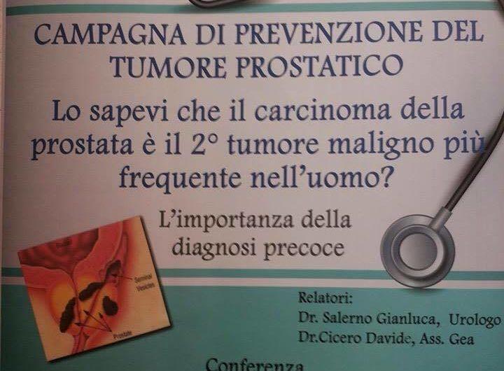 Adrano, 2 aprile conferenza sulla prevenzione del tumore prostatico