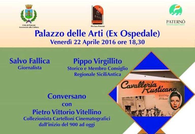 Paternò, pomeriggio l'incontro con Pietro Vitellino sul cinema del '900