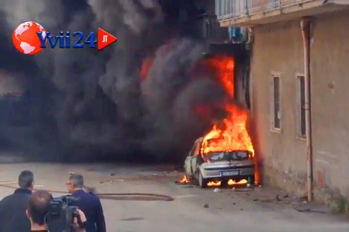 Biancavilla, un incendio devasta un edificio di via Unione Sovietica