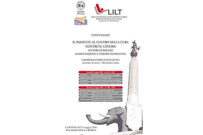 """Catania, 16-17 maggio congresso Lilt """"Alimentazione e tumori"""""""