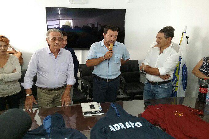 """Adrano, Matteo Salvini inaugura """"Noi con Salvini"""""""