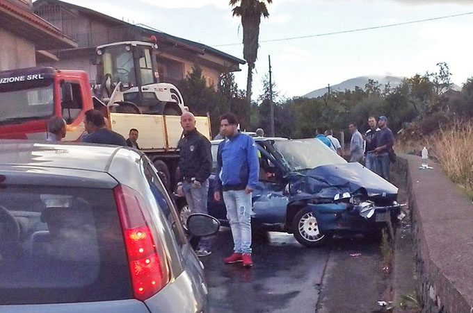 Santa Maria di Licodia, incidente su Via De Gasperi