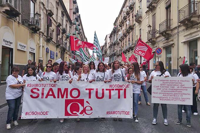 Paternò, la Qè chiude le porte ai lavoratori, Venerdì protesta davanti sede Enel-Wind
