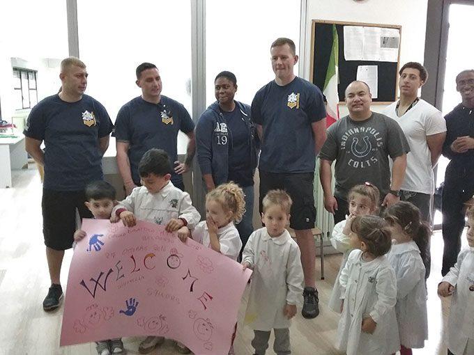 Belpasso, gli scolari incontrano i militari di Sigonella