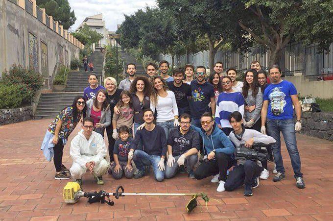 Biancavilla, i partecipanti a #savethegarden