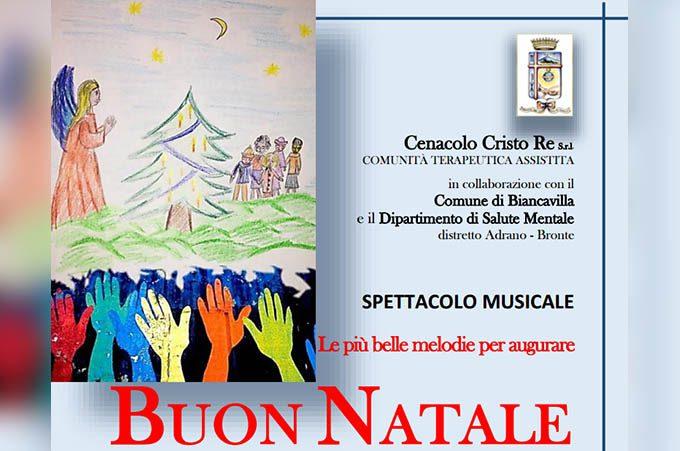 """Biancavilla, il 7 dicembre il """"Buon Natale"""" del Cenacolo Cristo Re"""