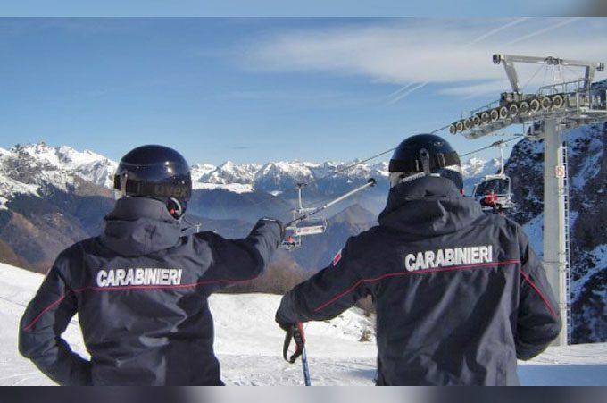 Neve e sci: il decalogo sicurezza dei Carabinieri