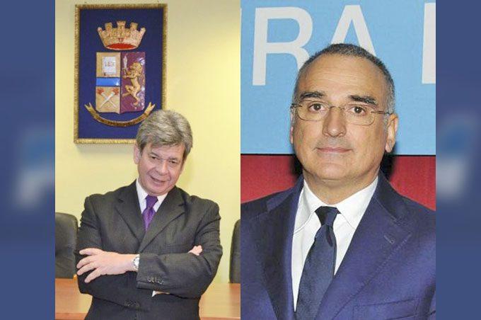 A sinistra Giuseppe Gualtieri; a destra Marcello Cardona