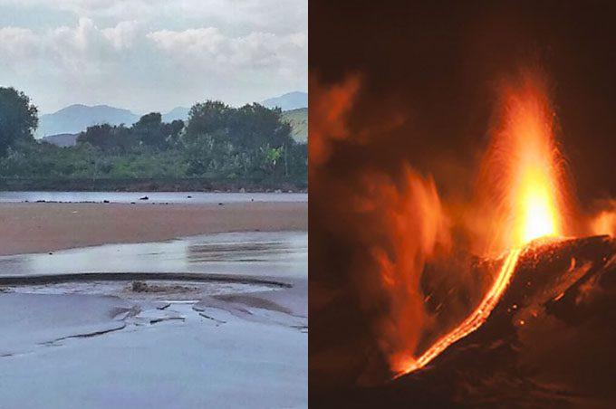 Paternò. Le Salinelle in eruzione, rispondono all'Etna