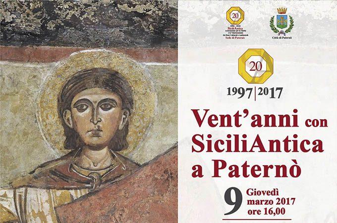 """Paternò, giovedì si celebrano i """"Vent'anni con SiciliAntica"""""""