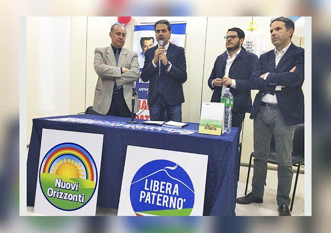 """Paternò elezioni. Le liste """"Nuovi Orizzonti"""" e """"Libera Paternò"""" a sostegno di Anthony Distefano"""