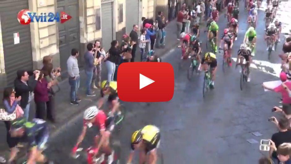 Biancavilla, ieri passaggio della carovana rosa del 100° Giro d'Italia