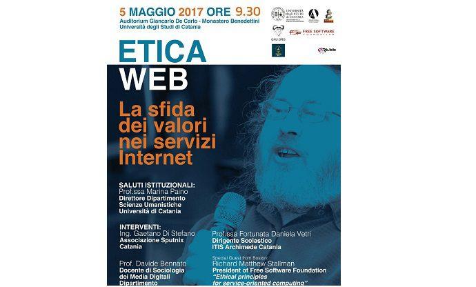 Catania, venerdì convegno sull'etica del web