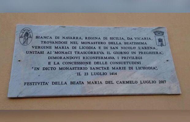 """Santa Maria di Licodia, epigrafe sulle """"Consuetudini"""""""