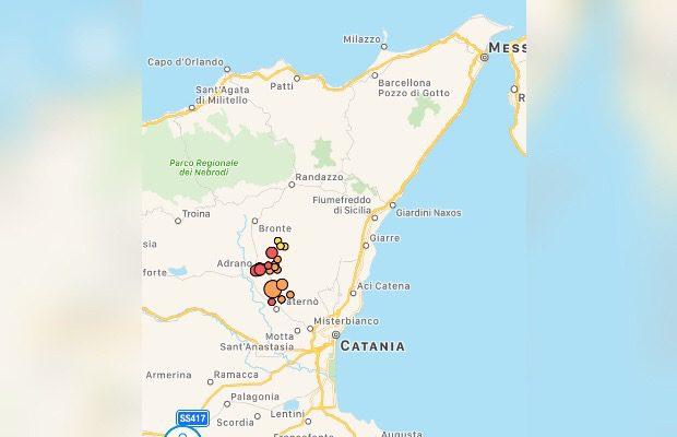 Terremoti, in atto sciame sismico tra Adrano, Biancavilla e Paternò