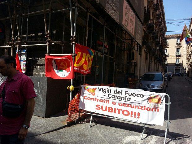Catania, ieri la conferenza sulle difficoltà dei vigili del fuoco