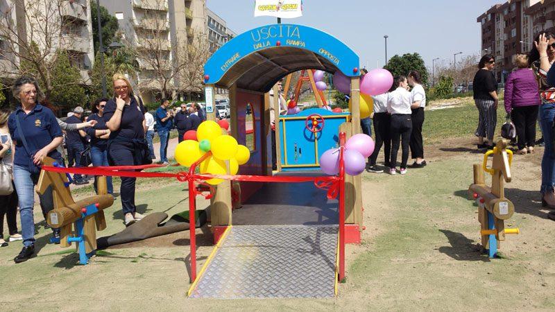 Paternò, inaugurato il parco inclusivo di viale dei Platani