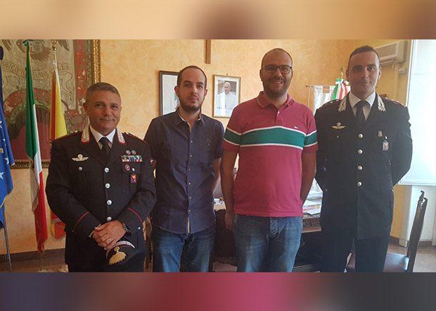 Biancavilla. Il sindaco Antonio Bonanno incontra il capitano dei Carabinieri Angelo Accardo