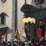 Belpasso. Condizioni meteo avverse, santa Lucia rientra in chiesa