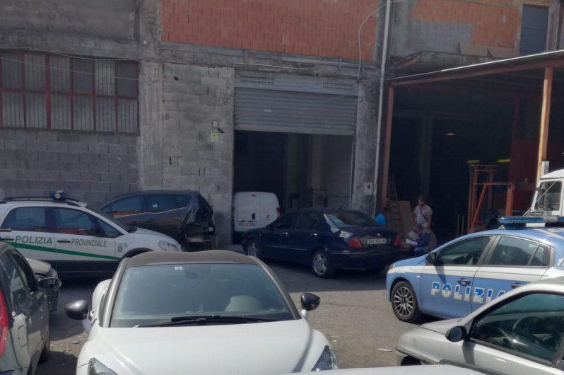 Catania. Scoperta un'autocarrozzeria adibita a riciclaggio di auto rubate