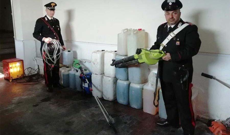 Biancavilla. Cadono nella trappola dei Carabinieri rubando bidoni di carburante contrassegnati