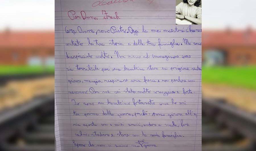 Shoah. Il piccolo Pietro scrive ad Anna Frank