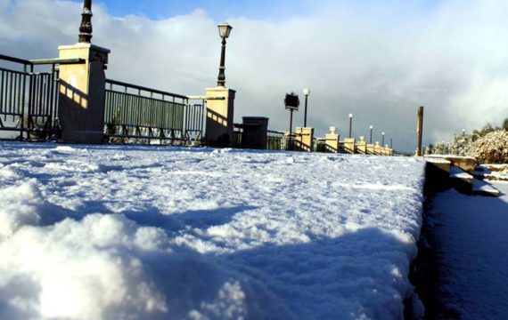 Maltempo. Neve a bassa quota alle pendici dell'Etna
