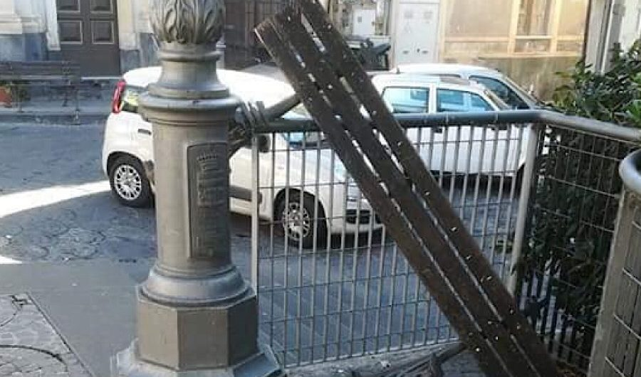 Biancavilla. Atto vandalico a piazza Annunziata
