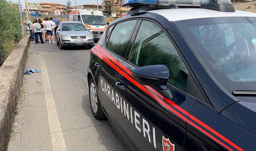 Santa Maria di Licodia. Incidente tra auto e bici