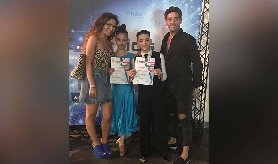Rimini. Successo per i cuginetti Neri di Adrano al campionato di danza latino americana