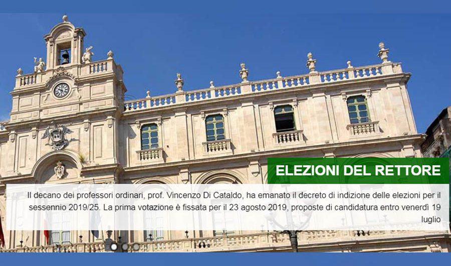 Catania. Il 23 agosto l'elezione del nuovo Rettore