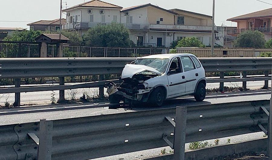 Belpasso. Incidente sulla Ss121 in zona Palazzolo