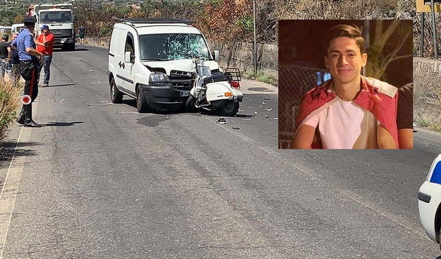 Paternò. È il 17enne Edoardo Chisari la vittima dell'incidente di via Mongibello