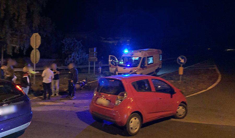 Santa Maria di Licodia. Incidente auto moto sulla Sp4/II