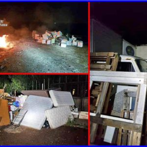 Biancavilla. Brucia i rifiuti accumulati: denunciato 64enne