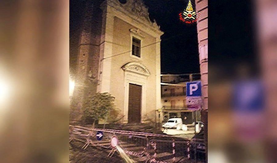 Misterbianco. Fulmine danneggia la chiesa di Santa Lucia