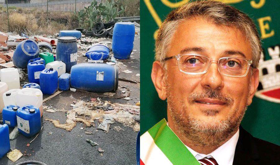Belpasso. Discariche pericolose, sindaco Motta: «Iniziative per fronteggiare questi gesti criminali»
