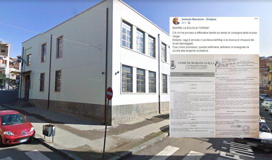 """Biancavilla. Domani riapre la """"Verga"""", sindaco Bonanno usi Yvii24 come portafortuna!"""