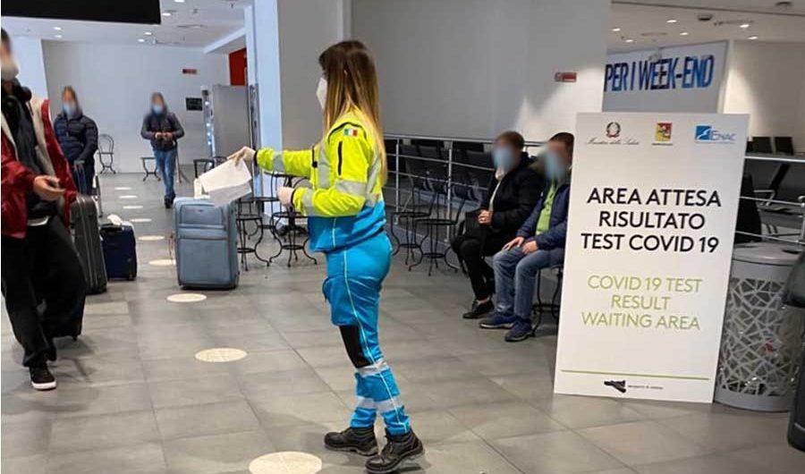"""Catania. In aeroporto, Misericordie a supporto della """"Covid-19 test area"""""""