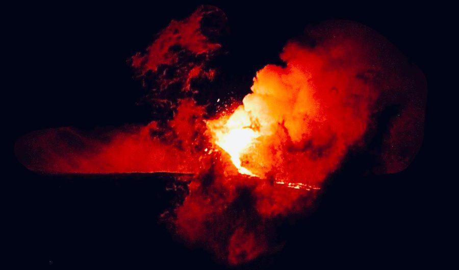 L'Etna infiamma la notte