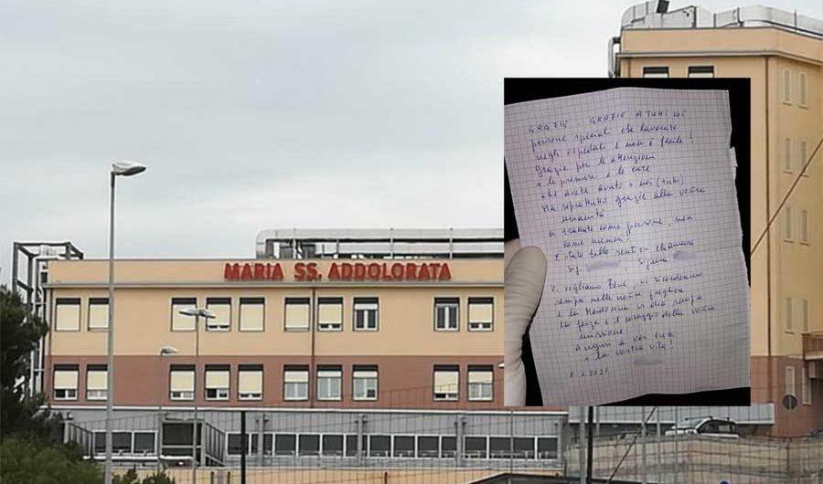 Biancavilla. Pazienti Covid scrivono una lettera agli operatori sanitari